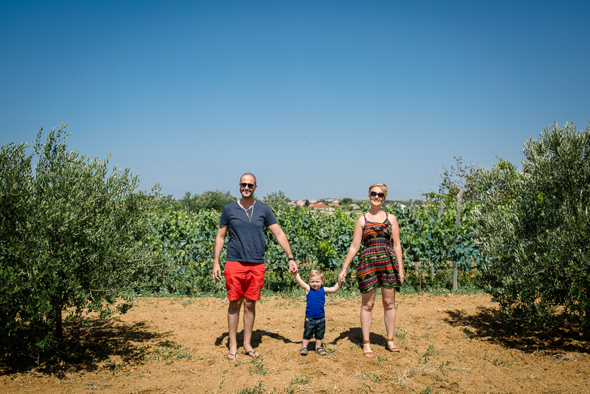 Travel Croatia like a local: Family photo