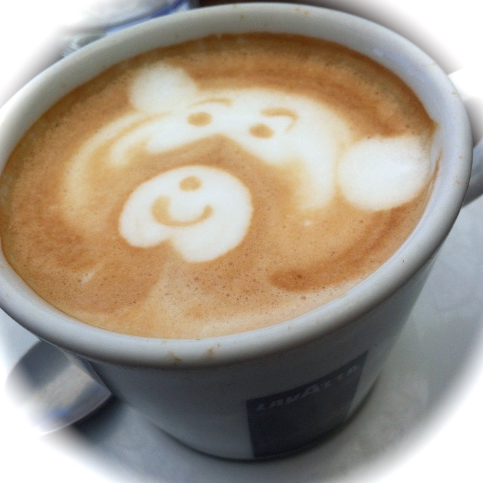 coffee art bear