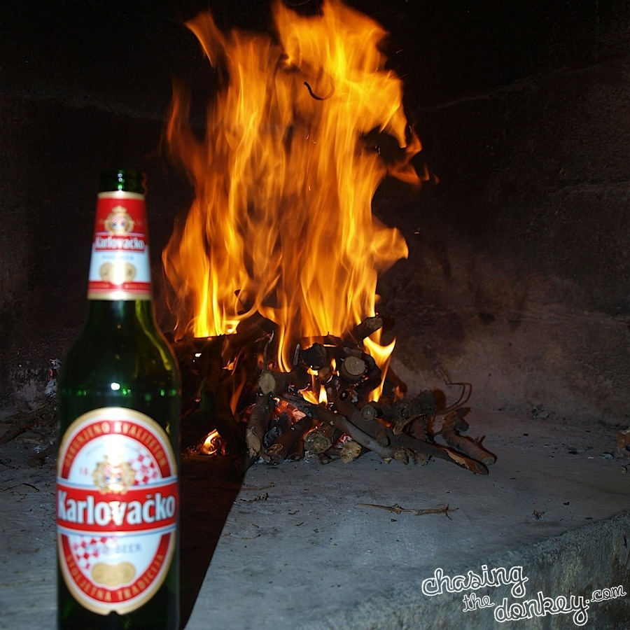 croatian cooking fire beer Ispod cripnje