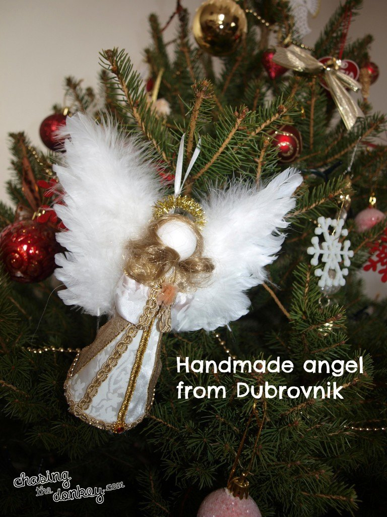 Handmade Christmas in Croatia angel - Chasing the Donkey
