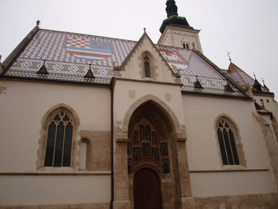 Things to do in Zagreb: St Marks Church Zagreb - Chasing the Donkey