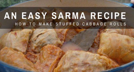 Croatian Cooking: Sarma Recipe (Stuffed Cabbage Rolls)