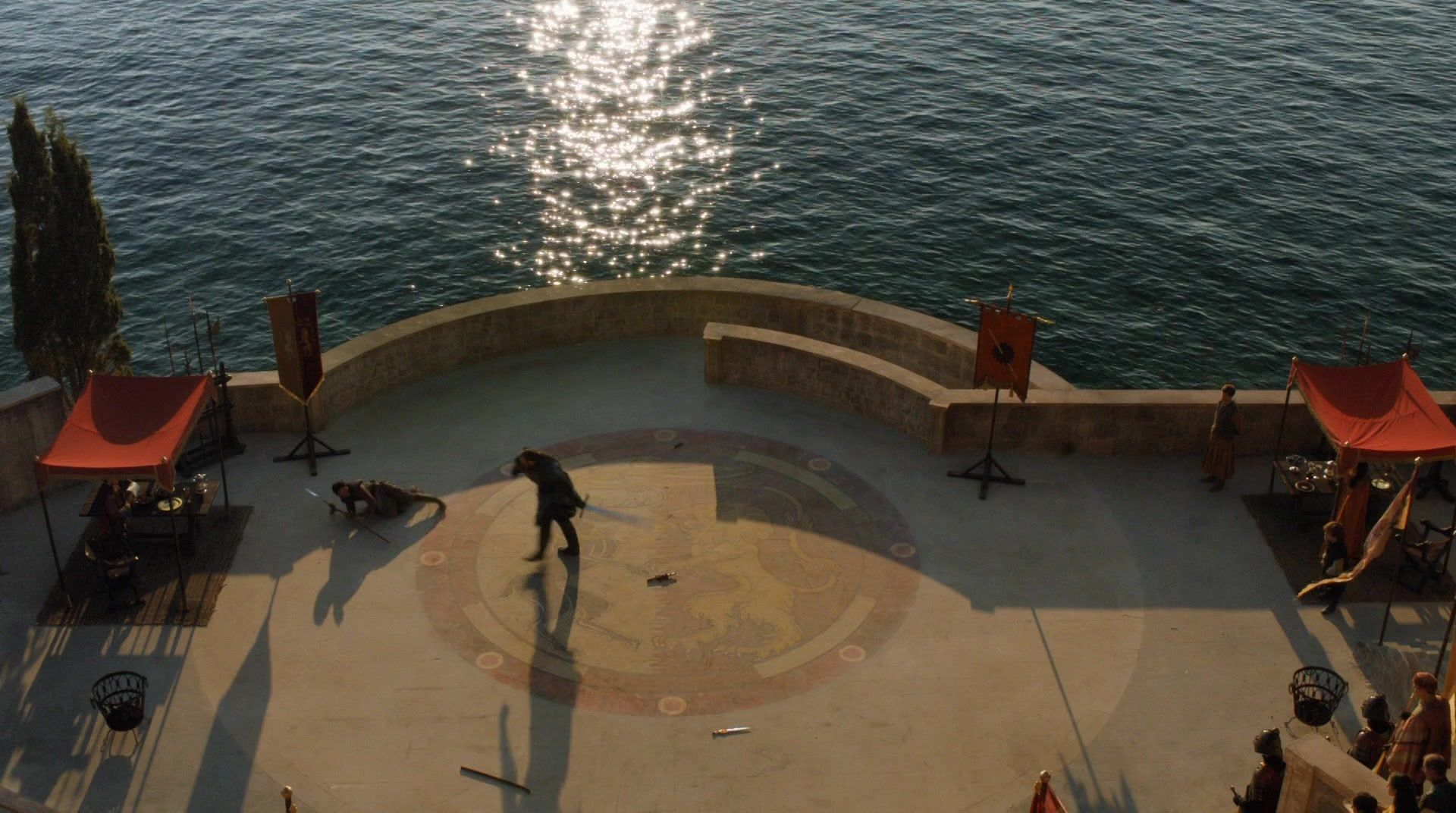 Game Of Thrones Croatia: Locations And Tours - S4 E8 Belvedere Hotel Atrium - Fight Between Prince Oberyn & The Mountain