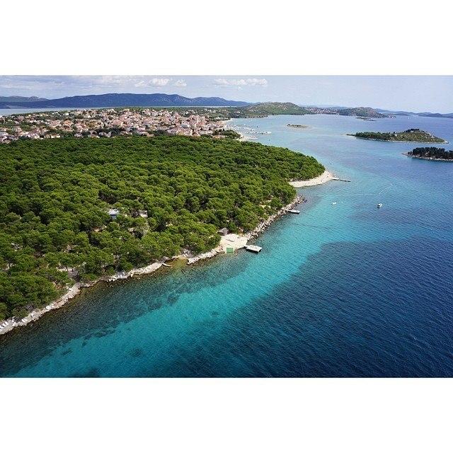 Aerial shot of Croatia - Chasing the Donkey