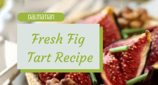 Croatian Cooking: Dalmatian Fresh Fig Tart Recipe