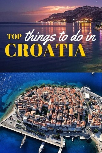 Top things to do in Croatia Pintrest