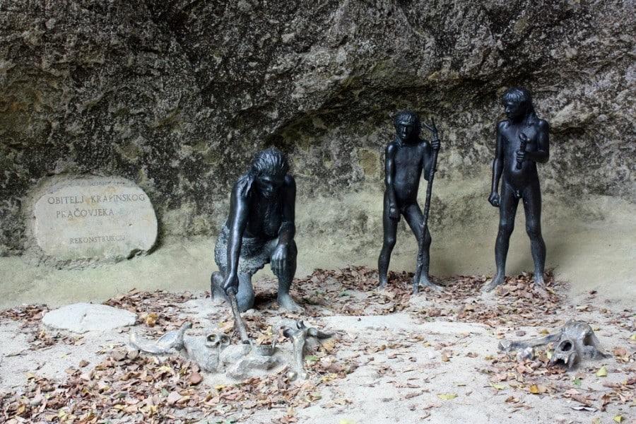 Museum of Krapina Neanderthals Croatia - Chasing the Donkey