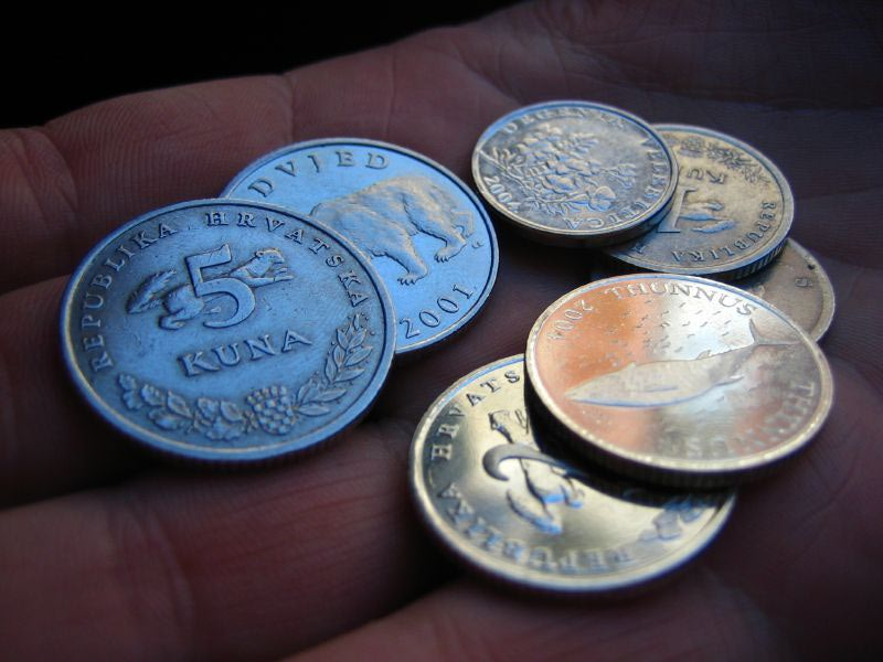 Language in Croatia: Croatian Kuna Coins - Chasing the Donkey