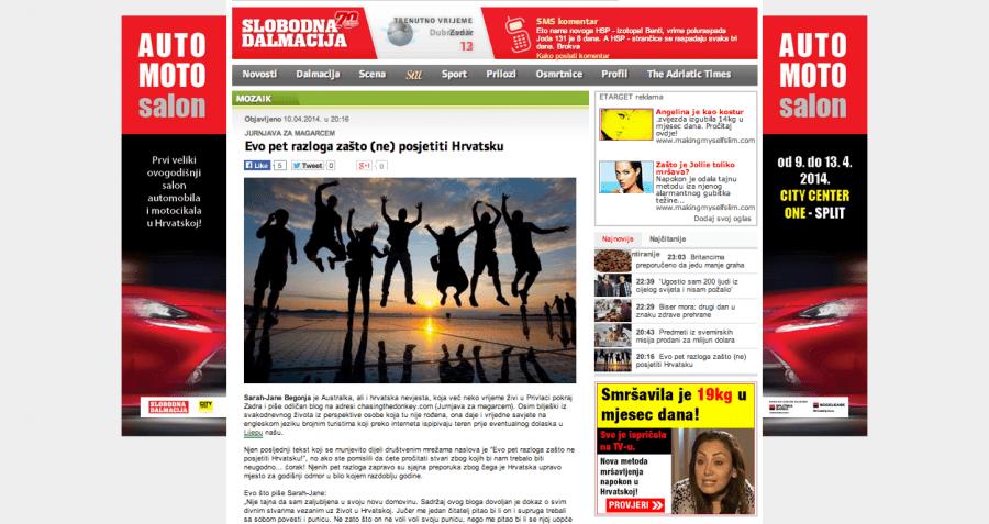 Slobodna Dalmacija Newpaper Online