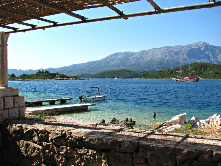 View from Vrnik Islet in Korcula archipelago