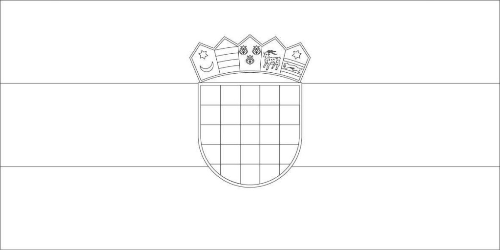 croatia-flag-coloring-pages - Chasing the Donkey Croatia