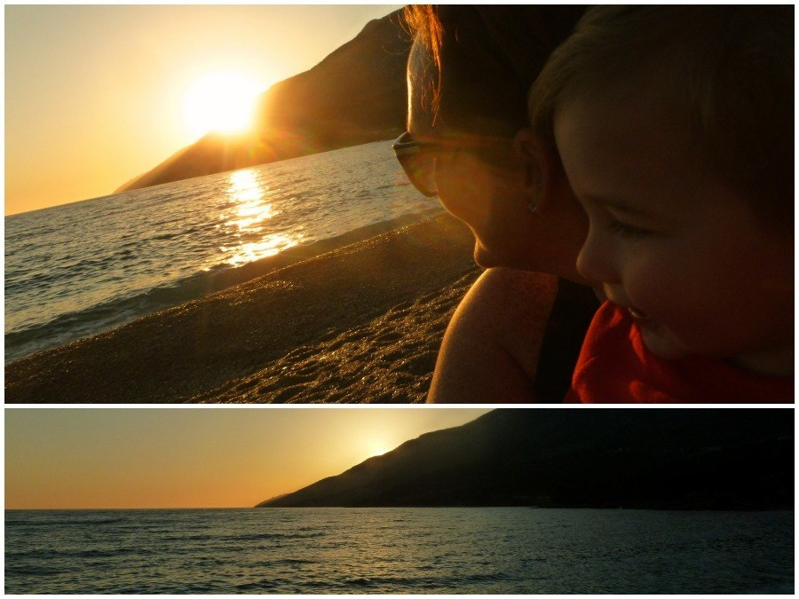 Sunset at Zlatni Rat beach bol croatia