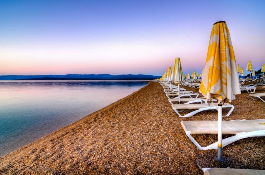 Zlatni Rat Beach Sunset