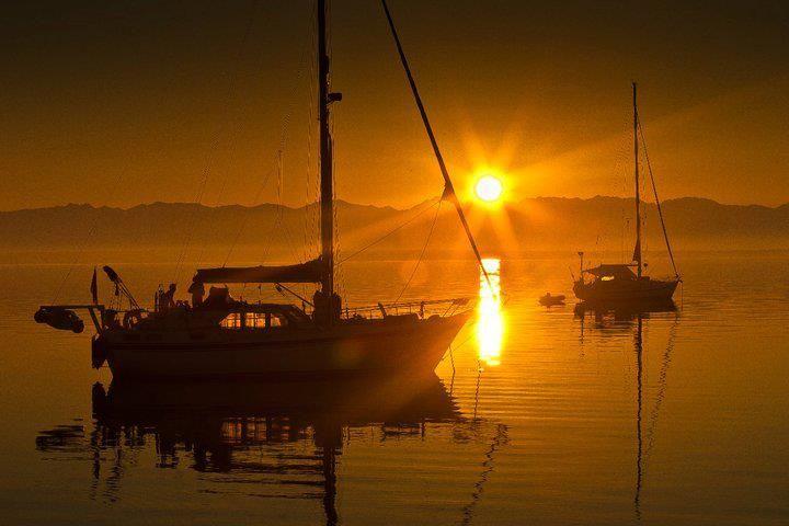 Travel to Croatia - Silba Island sunset boats