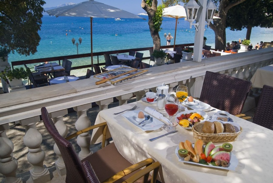 Hotel Marco Polo Gradac breakfast - Travel Croatia