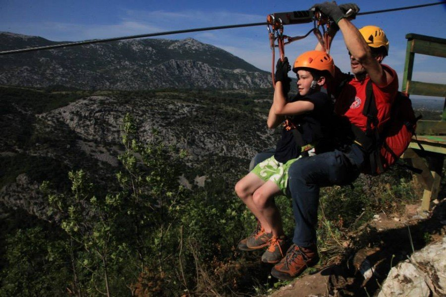 Fun things for kids to do in Croatia - Zip Line Omiš