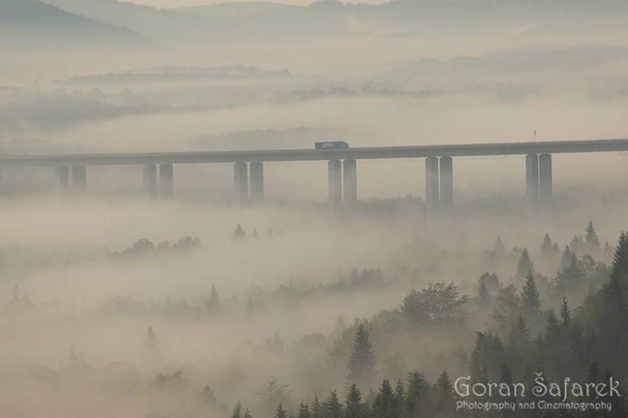 Travel Croatia  Zagreb-Rijeka highway mist