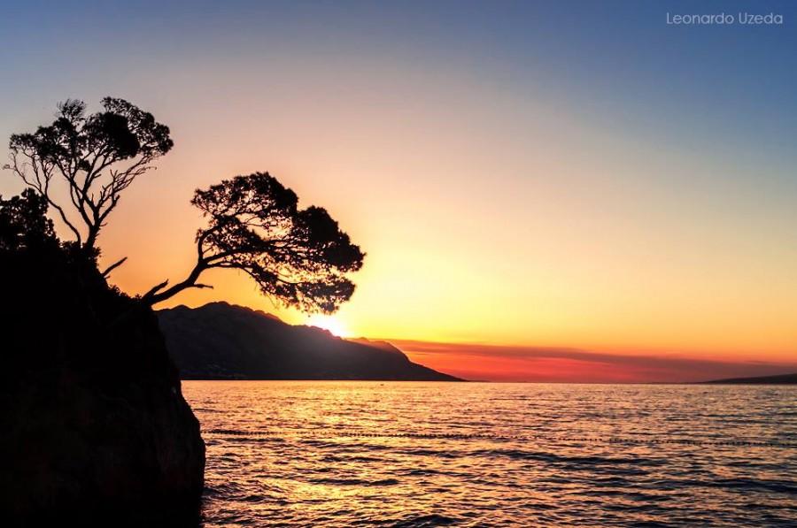 punta rata beach sunset