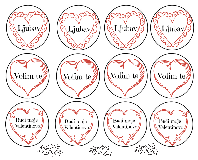 Learning Croatian_Valentines Day_Circle Toppers MKB