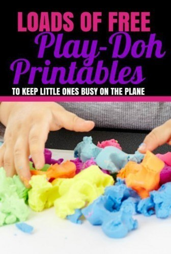 Flying with children_Free Play-doh Printable