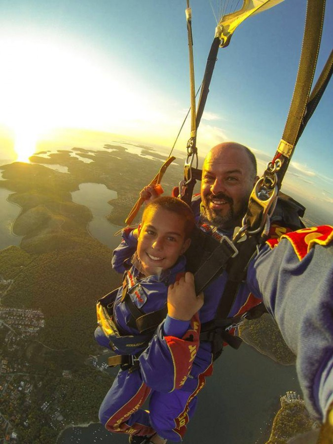 Pula Sunset while Skydiving