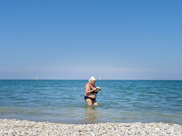 Reading a Book in Water_Dave Collier