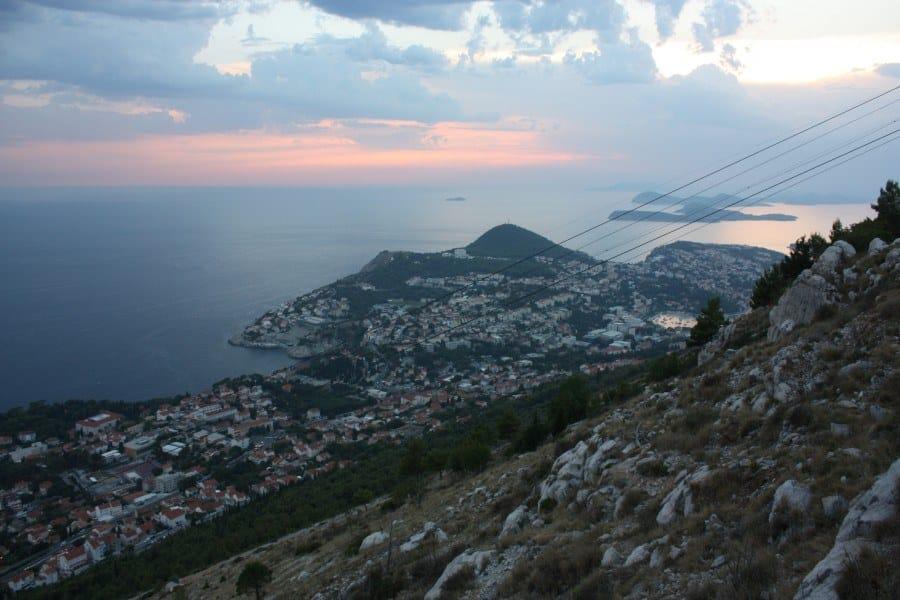 Elaphite Islands in distance