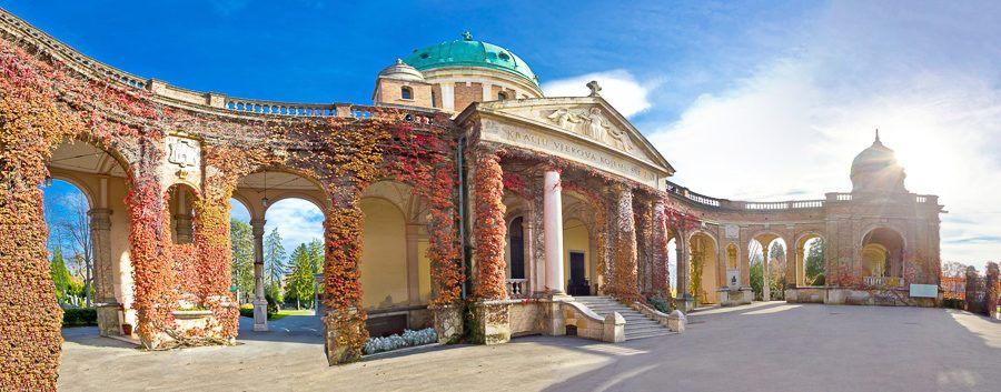 Mirogoj cemetery monumental arcades panorama