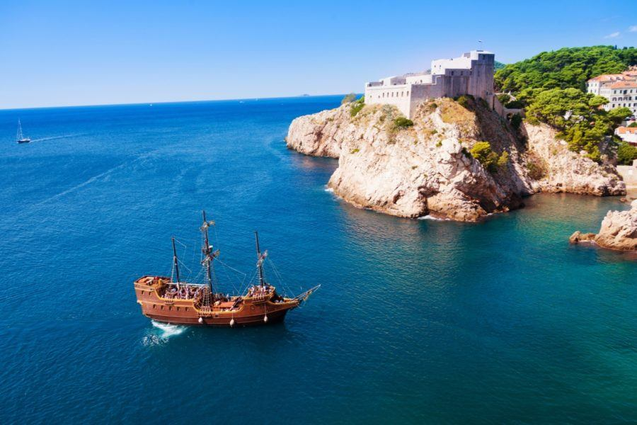 Fort Lovrijenac - Sail ship_Pirate_Dubrovnik - Croatia Travel Blog