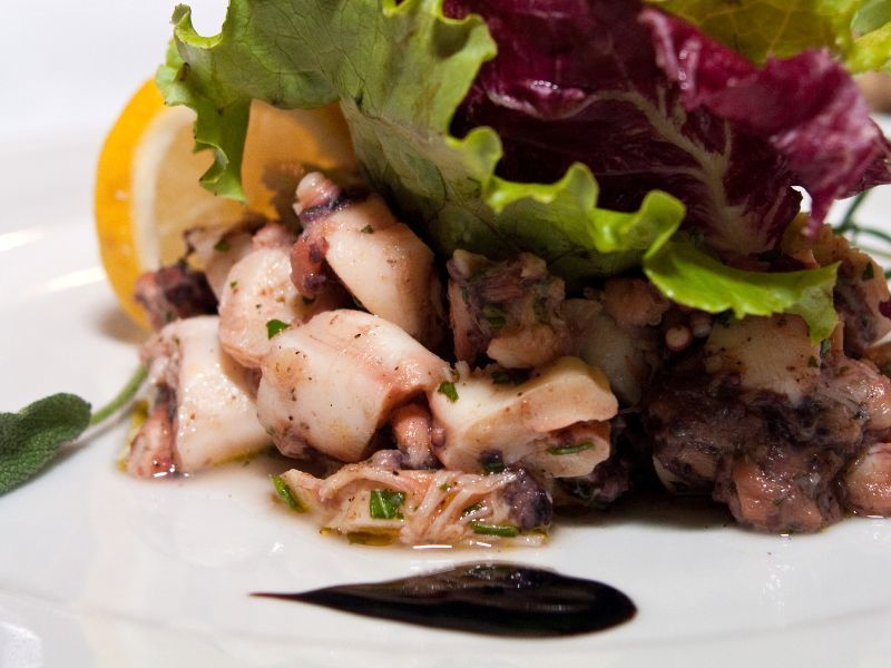 Croatian Cooking Octopus Salad | Travel Croatia Guide and Blog