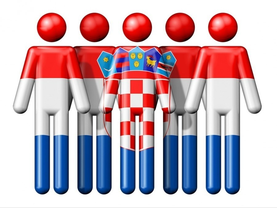 Croatian Flag Stick Men | Croatia Travel Blog