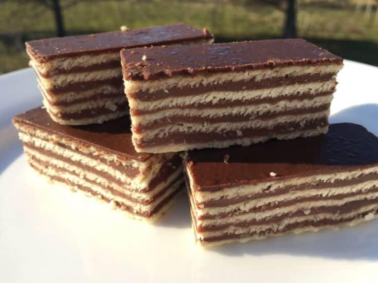 Croatian Recipes | Madarica | Layered Chocolate Cake |Chasing the Donkey Cooking Blog