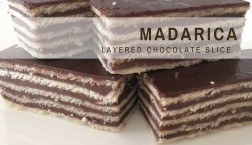 Croatian Recipes: Madarica {Layered Chocolate Slice}