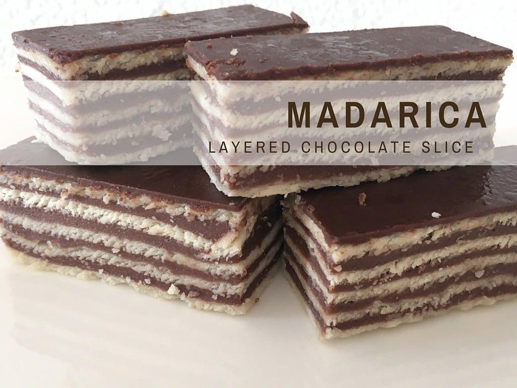 Croatian Recipe | Madarica | Layered Chocolate Cake |Chasing the Donkey Cooking Blog
