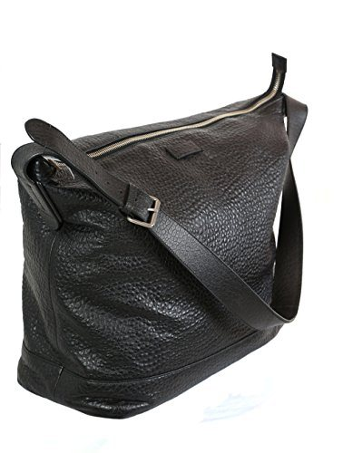 Gucci Unisex Cross Body Hobo Bag in Black Leather