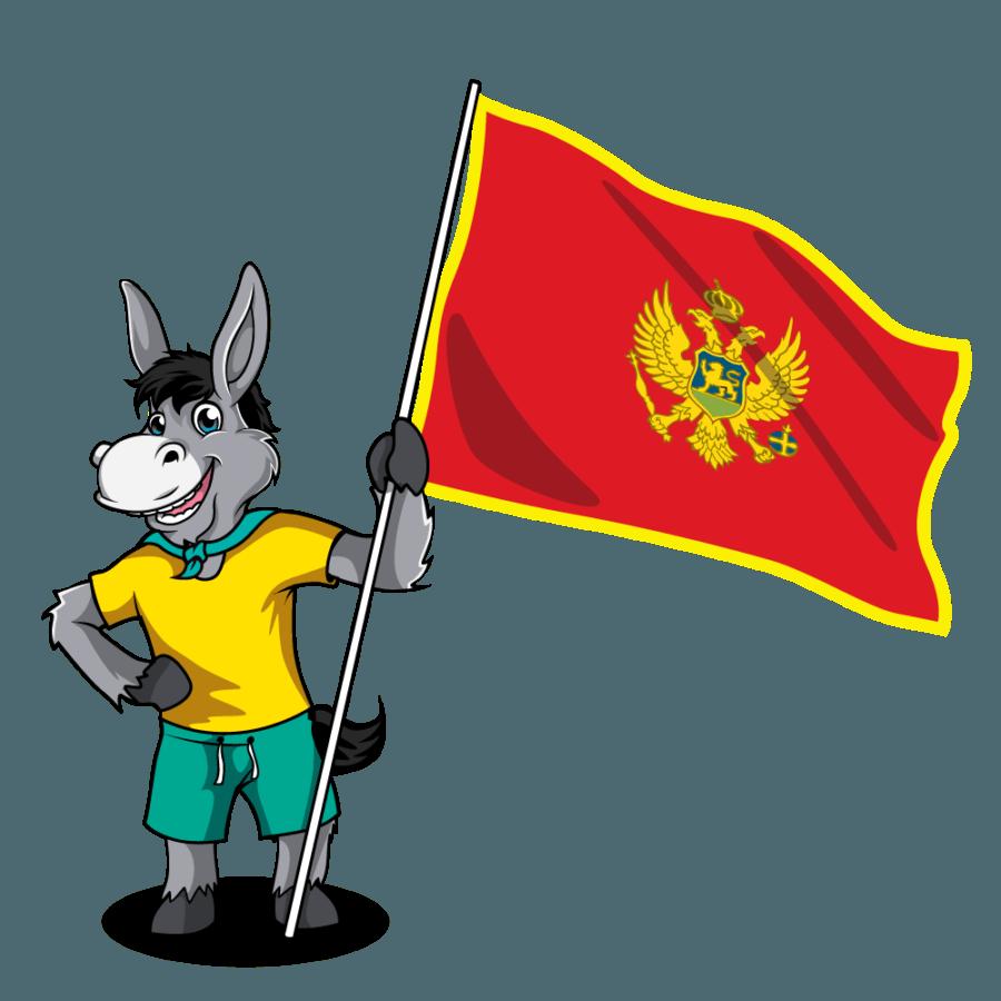 Balkan Flags_Montenegro 2