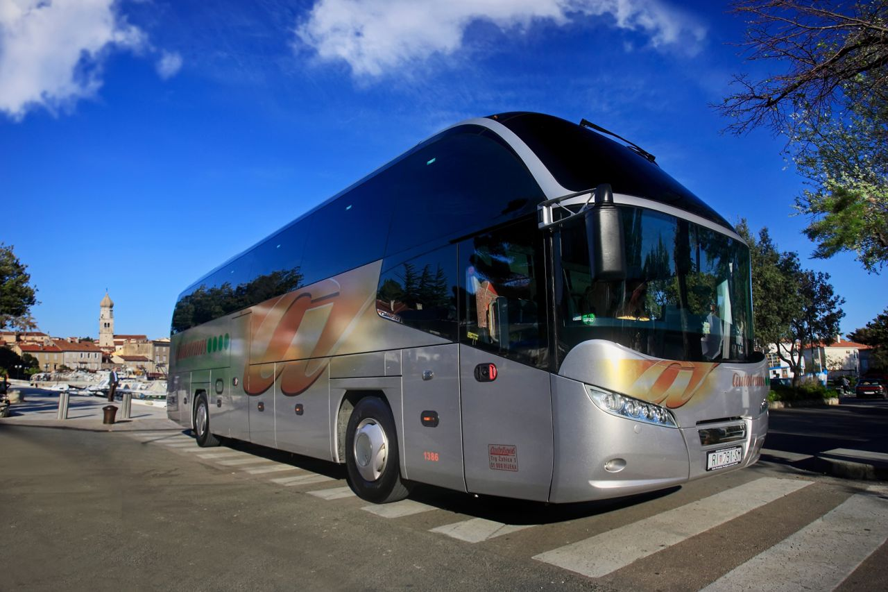 Bus In Croatia by Bus