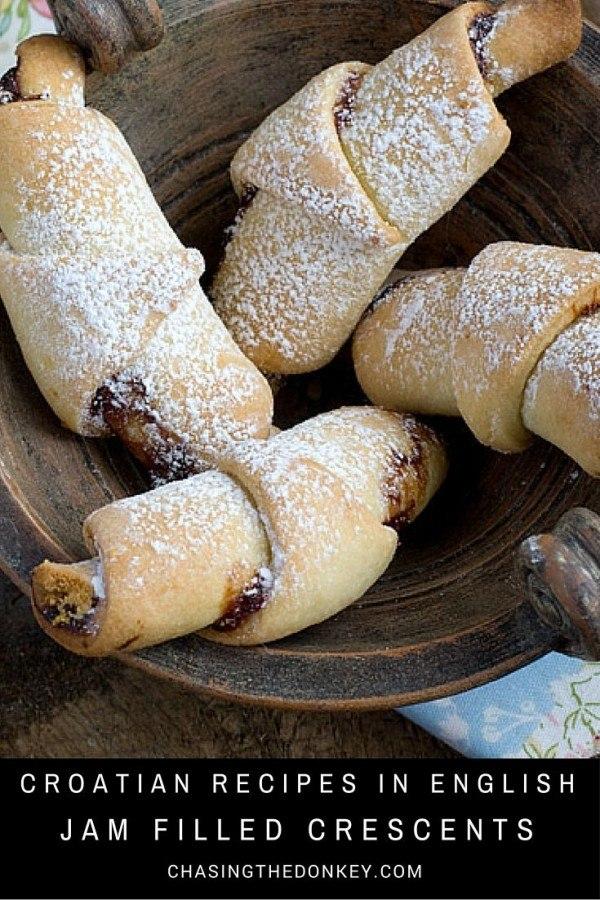 Croatian Recipes | Kiflice | Plum jam