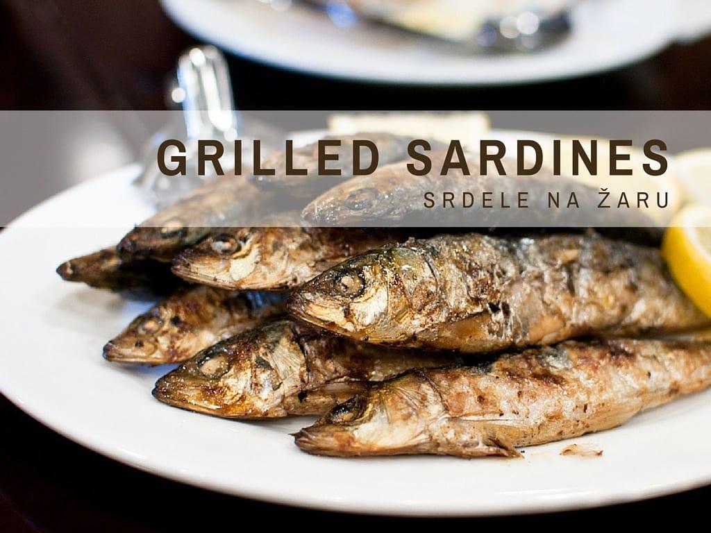 Croatian Cooking Grilled Sardines