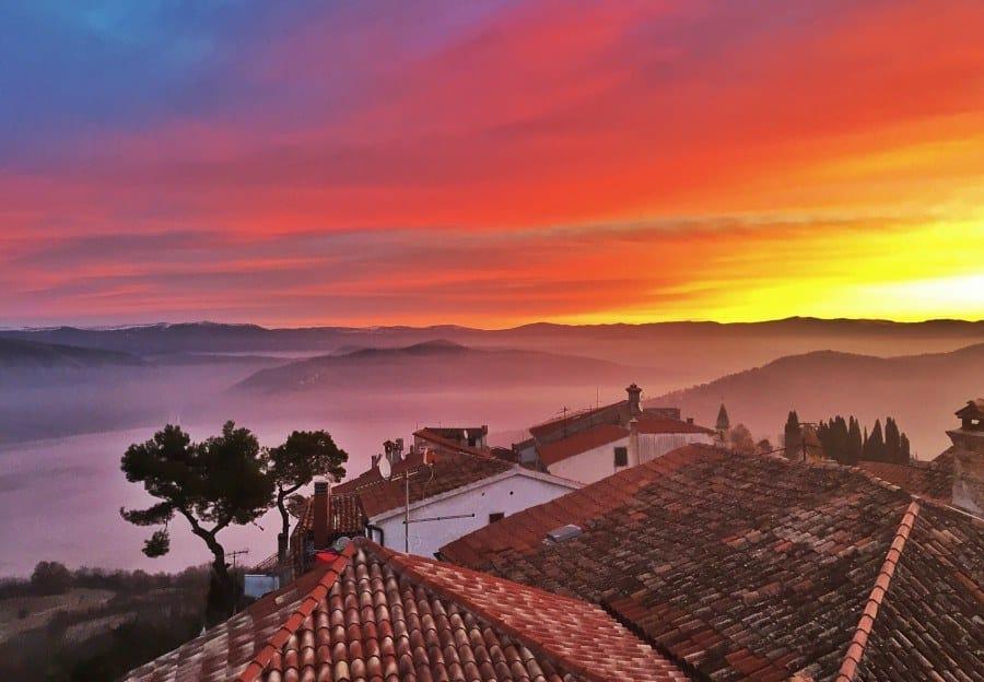 A last sunrise in Motovun | Croatia Travel Blog