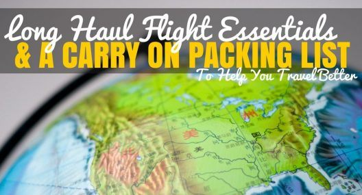 Long Haul Flight Essentials: Carry on Packing List to Travel Lighter