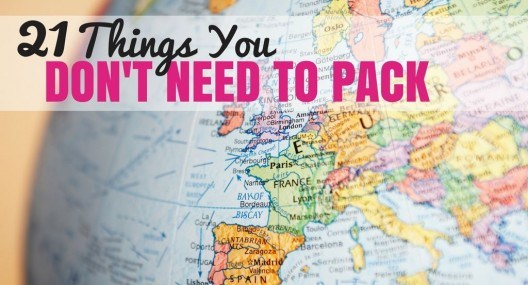 Things You Don't Need on Your Packing List