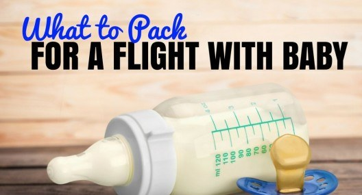 What to Pack When Flying with a Baby or Toddler