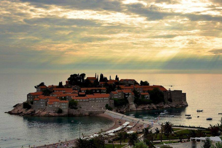Evening Sveti Stefan Montenegro | Montenegro Travel Blog