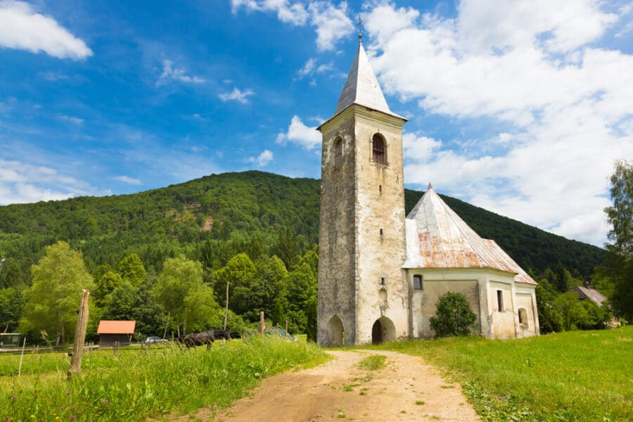 Bela Krajina - Church in Srednja vas near Semic, Slovenia.