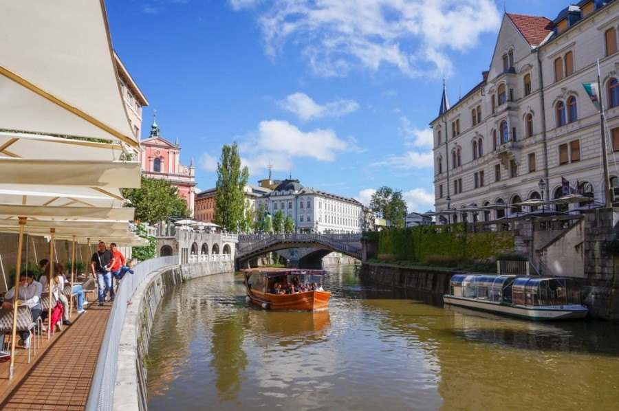 Ljubljana Activities | Boat on the Ljubljanica River | Slovenia Travel Blog