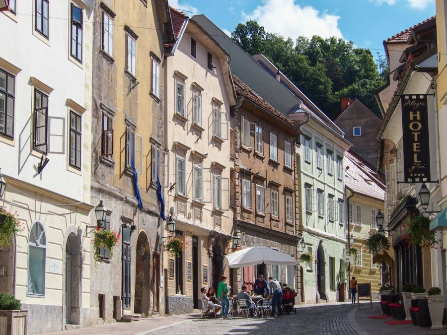 Things to do in Ljubljana | Car-free street in Ljubljana | Slovenia Travel Blog
