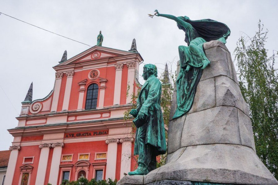Things to do in Ljubljana | Prešeren Square Ljubljana| Slovenia Travel Blog