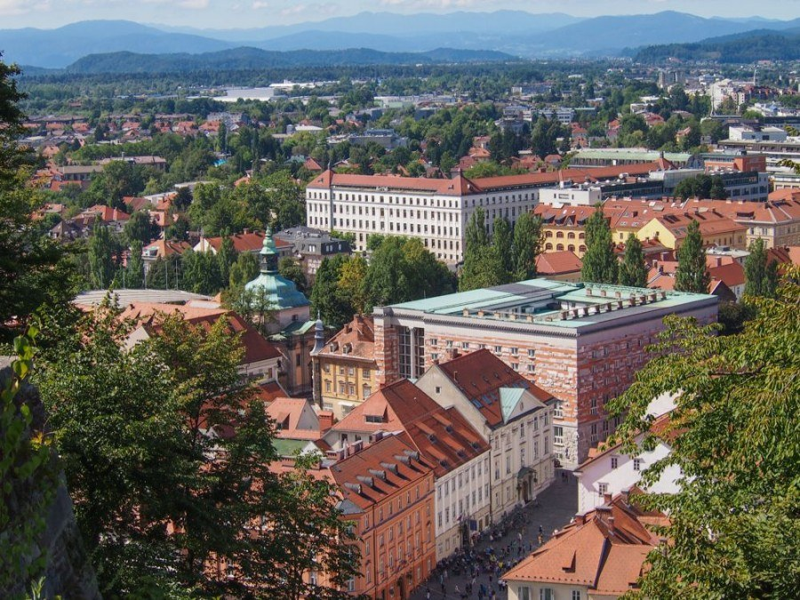 Things to do in Ljubljana | View from Ljubljana Castle | Slovenia Travel Blog