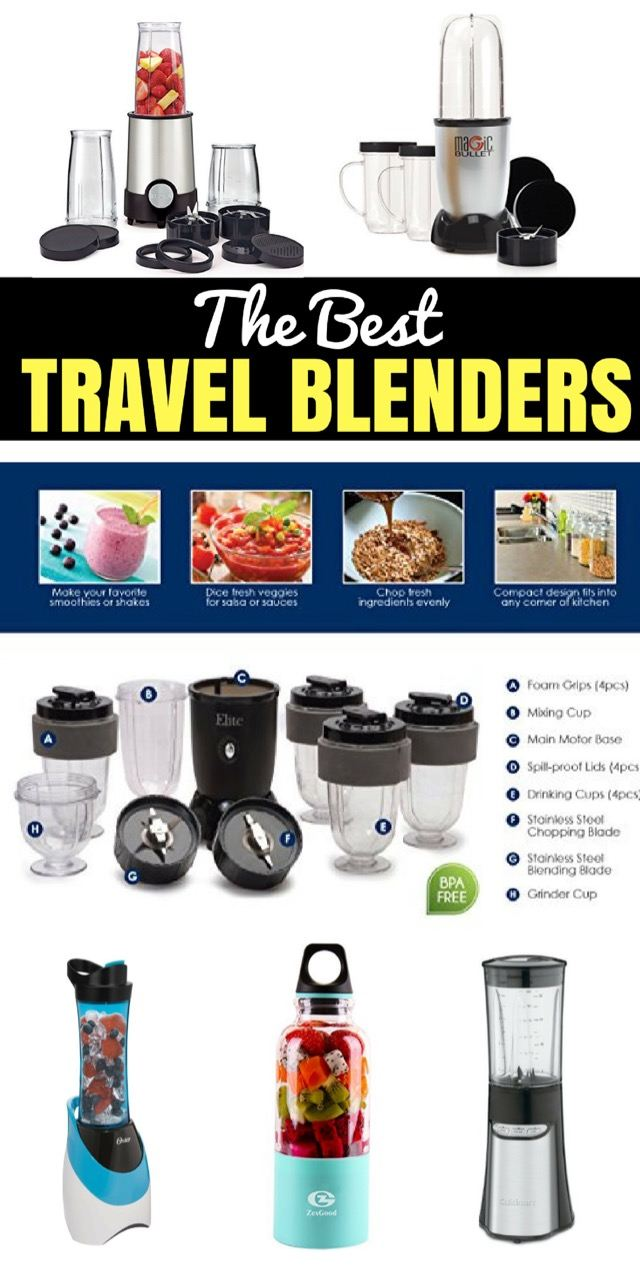 Are you looking for a travel blender? Find out here, which are the best travel blenders on the market.